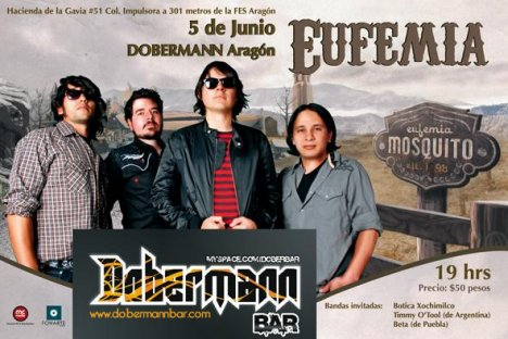 Eufemia En El Dobermann Bar - rock en espa�ol - rockeros.net