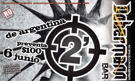 2 Minutos En El Dobermann Bar - rock en espa�ol - rockeros.net