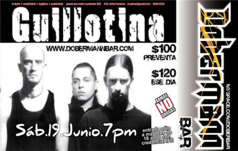 Guillotina En El Dobermann Bar - rock en espa�ol - rockeros.net