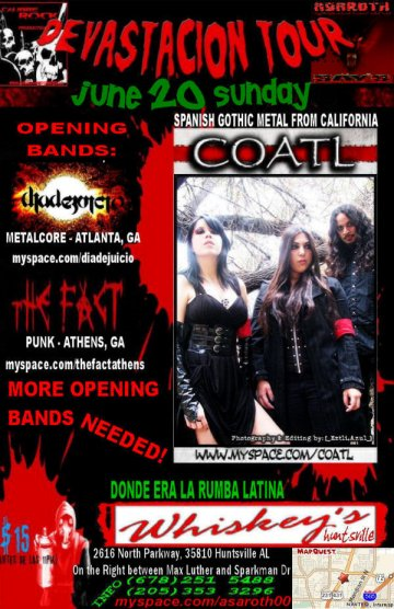 Coatl Devastacion Tour 2010 En Huntsville Alabama - rock en espa�ol - rockeros.net
