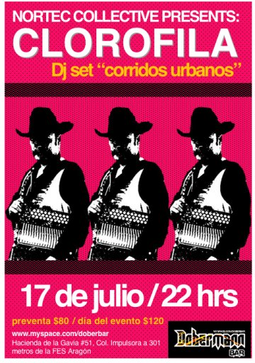 Nortec Collective Presents Clorofila Corridos Urbanos En El Dobermann - rock en espa�ol - rockeros.net