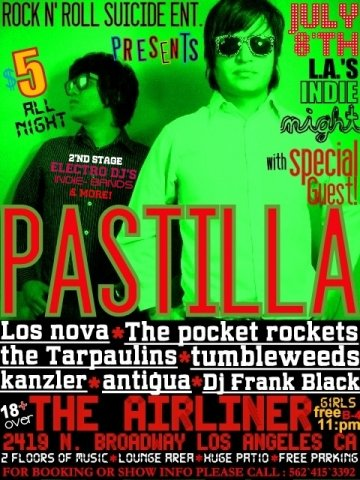 Rock N Roll Suicide Presenta Pastilla Los Nova En The Airliner Los Angeles - rock en espa�ol - rockeros.net
