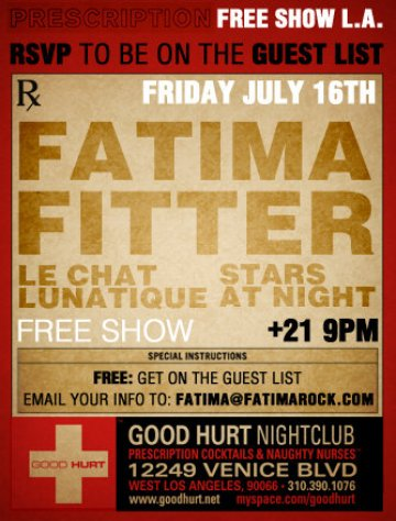 Fitter Free Show For Our Friends At The Good Hurt - rock en espa�ol - rockeros.net