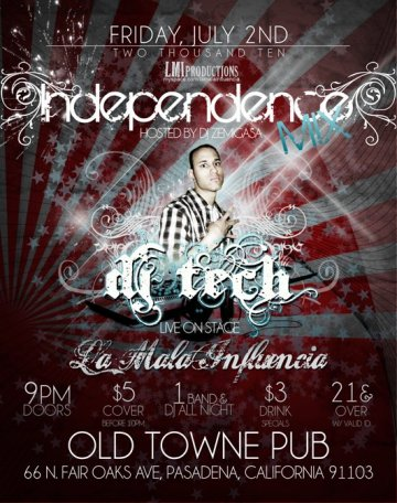 Independance Mix Con La Mala Influencia En The Old Town Pub - rock en espa�ol - rockeros.net