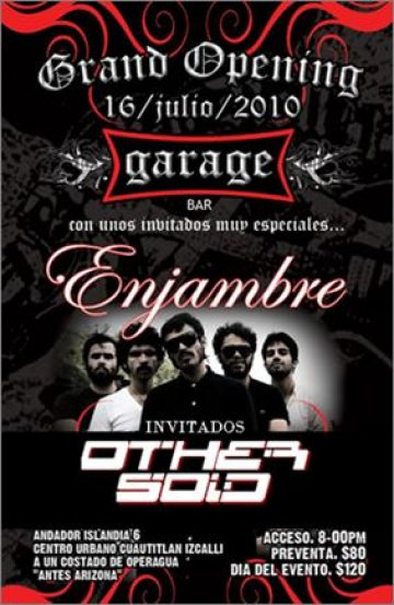 El Gran Opening De Garage Bar Con Enjambre Cuatitlan Izcally - rock en espa�ol - rockeros.net