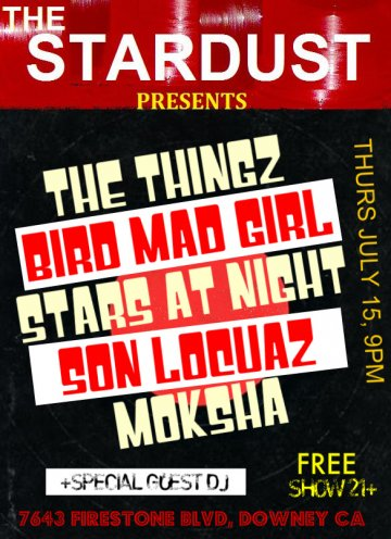 Son Locuaz Bird Mad Girl The Things En El Stardust De Downey Ca - rock en espa�ol - rockeros.net