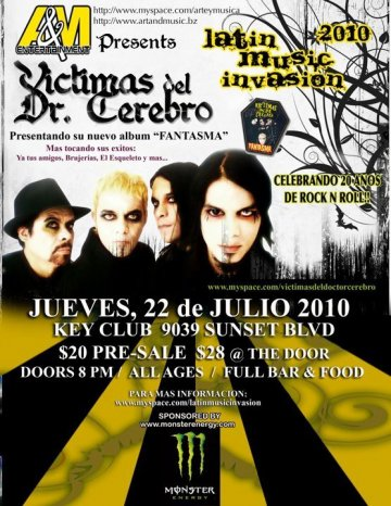 A And M Presenta Latin Music Invasion 2010 Con Vicitmas Del Dr Cerebro - rock en espa�ol - rockeros.net