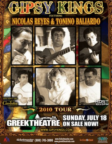 Gipsy Kings En El Greek Theatre Los Angeles - rock en espa�ol - rockeros.net