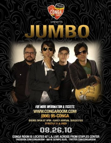 Jumbo En El Conga Room De Los Angeles - rock en espa�ol - rockeros.net