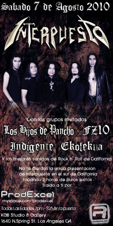 Interpuesto En El Kgb Studio And Gallery De Los Angeles Ca - rock en espa�ol - rockeros.net