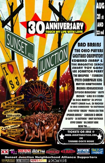 Sunsent Junction 30 Aniverasary The Fold Edgecliff Stage Los Angeles Ca - rock en espa�ol - rockeros.net