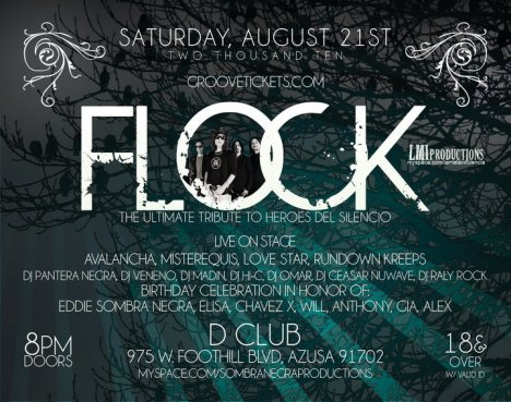 Flock Eddie Sombra Negra Bday Party En El D Club De Azusa Ca - rock en espa�ol - rockeros.net