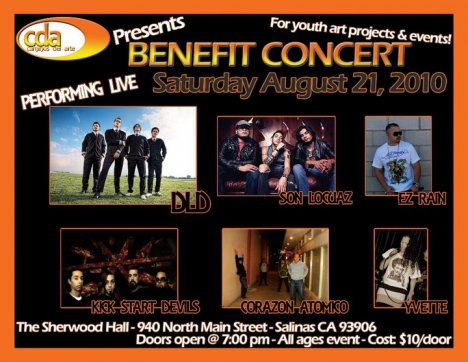 Youth And Arts Benefit Concert Dildo Dld Son Locuaz The Sherwood Hall Salinas Ca - rock en español - rockeros.net