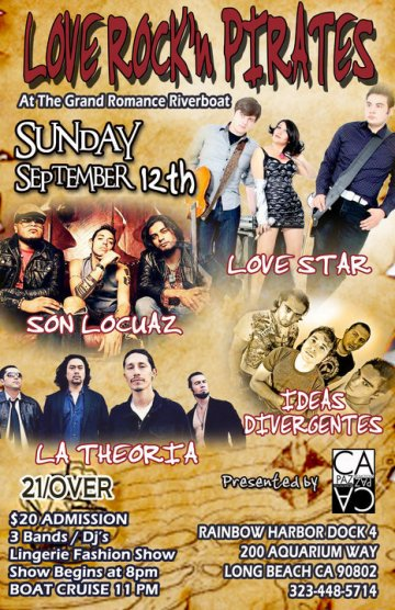 Love Rock Pirates Con Son Locuaz Love Star En Long Beach California - rock en espa�ol - rockeros.net