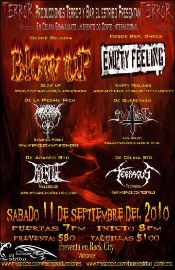 Blow Up Empty Feeling Natasyos Horde En El Bar El Estribo Celaya Guanajuato - rock en español - rockeros.net