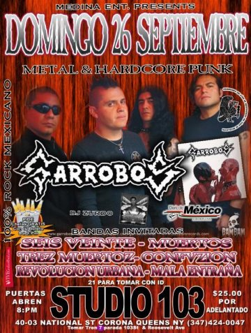 Metal And Hardcore Punk Estudio 103 Queens Ny Con Garrobos Seis Veinte Muertos - rock en espa�ol - rockeros.net