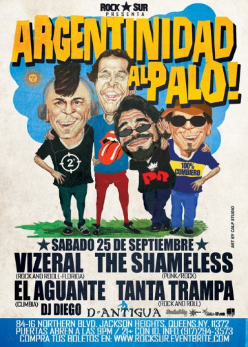 Argentinidad Al Palo Vizeral The Shameless D Antigua Queens Ny - rock en espa�ol - rockeros.net