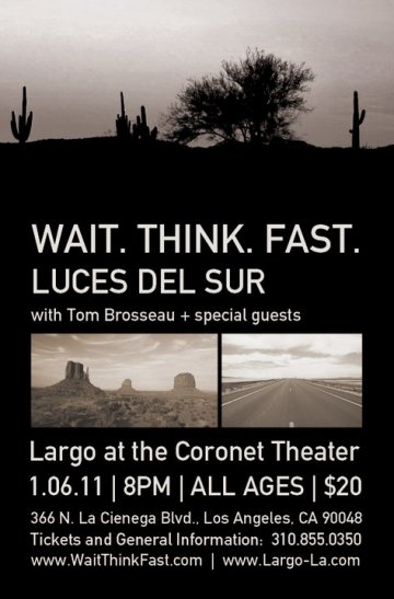 Wait Think Fast En Largo At The Coronet Los Angeles California - rock en espa�ol - rockeros.net