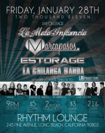 La Mala Influencia Marcapasos Estorage En The Rythm Loung De Long Beach Ca - rock en espa�ol - rockeros.net