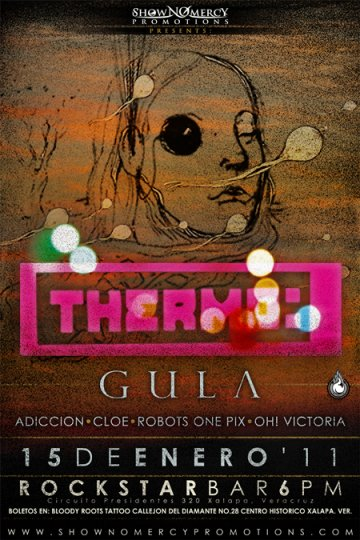 Thermo Gula Adiccion Cloe Robots One Pix En El Rock Star Bar Xalapa Veracruz - rock en espa�ol - rockeros.net