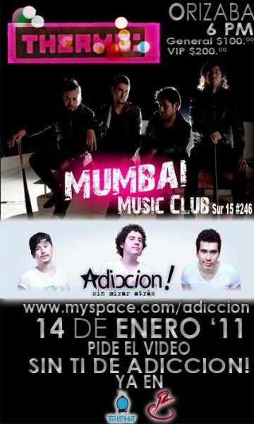 Thermo Adiccion En El Mumbai Music Club Orizaba Veracruz Mx - rock en espa�ol - rockeros.net