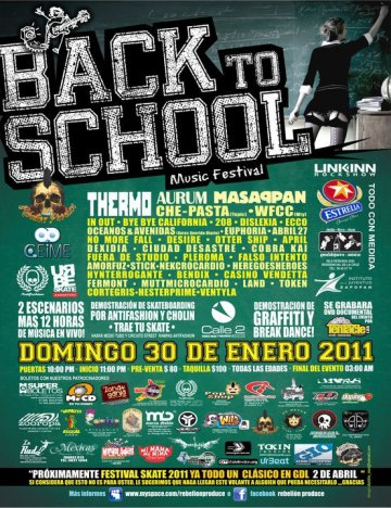 Back To School Music Festiva Thermo Aurum Masappan Calle 2 Guadalajara Jalisco - rock en espa�ol - rockeros.net