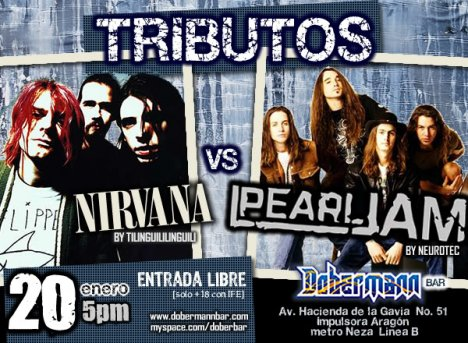 Tributo A Nirvana Y Perl Jam Con Neurotic Y Tilinguillilinguili Dobermann Bar - rock en espa�ol - rockeros.net