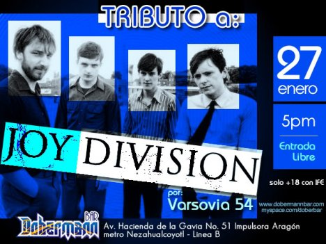 Tributo A Joy Division Con Varsovia 54 En El Dobermann Bar Aragon Mexico Df - rock en espa�ol - rockeros.net