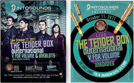 The Tenderbox Outernational V For Volume Inkblots The Juke Joint Anaheim Ca - rock en espa�ol - rockeros.net
