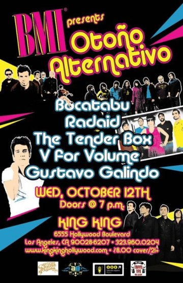 Bmi Presenta Oto�o Alternativo Bocatabu Radaid The Tenderbox King King Hollywood - rock en espa�ol - rockeros.net