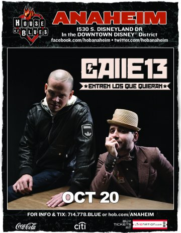 Calle 13 Entre Los Que Quieran Tour House Of Blues De Anaheim California - rock en espa�ol - rockeros.net