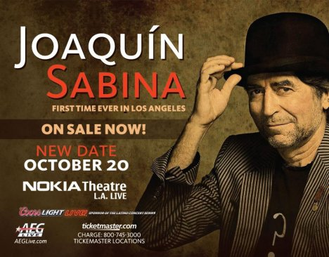 Joaquin Sabina Us Tour 2011 En El Nokia Theatre De Los Angeles California - rock en espa�ol - rockeros.net