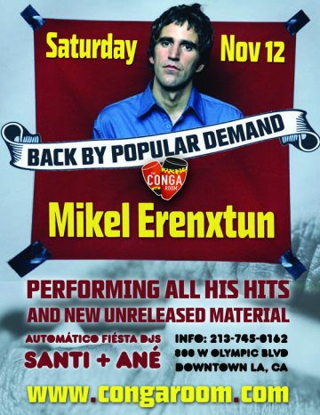 Mikel Erentxun En El Conga Room De Los Angeles California - rock en espa�ol - rockeros.net