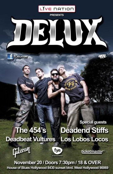 Delux En El House Of Blues Hollywood En Los Angeles Ca - rock en espa�ol - rockeros.net