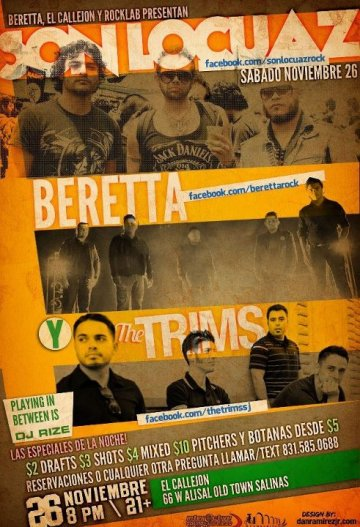Son Locuaz Beretta Y The Trims En El Callejon De Salinas California - rock en espa�ol - rockeros.net