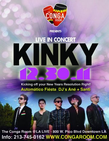 Kinky En El Conga Room De Los Angeles California - rock en español - rockeros.net