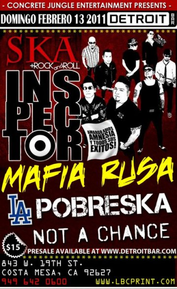 Inspector En Detroit Bar De Costa Mesa California - rock en espa�ol - rockeros.net