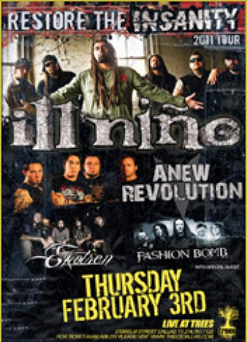 Ill Ni�o Restore Te Sanity Tour 2011 A New Revolution Ekotren Trees Dallas Texas - rock en espa�ol - rockeros.net