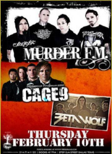 Murder Fm Cage 9 Betawolf En Trees Dallas Texas - rock en espa�ol - rockeros.net