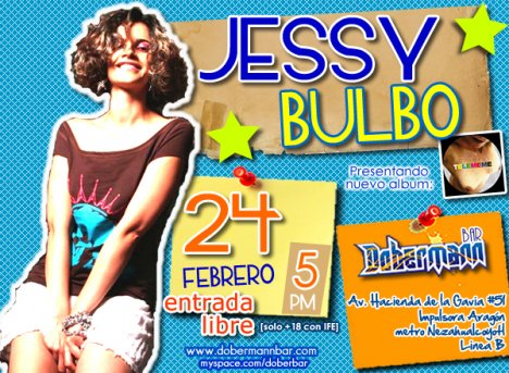 Jessy Bulbo En El Dobermann Bar De Aragon Ciudad De Mexico Df - rock en espa�ol - rockeros.net