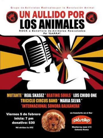 Un Aullido Por Los Animales Mutante Real Skases Beating Soulds Bar Plastico Df - rock en espa�ol - rockeros.net