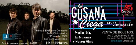 La Gusana Ciega En El Seven Sins Pool And Restaurant Bar Mexico Df - rock en espa�ol - rockeros.net