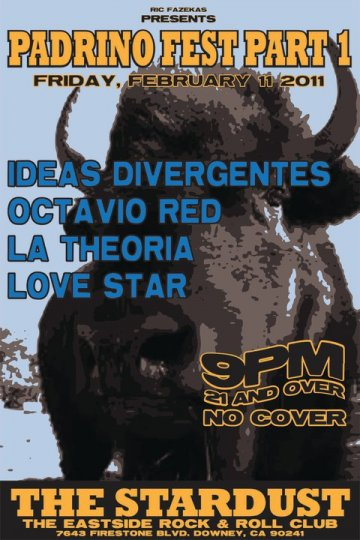 Padrino Fest Pt 1 Ideas Divergentes Octavio Red La Theoria The Stardust Downey - rock en espa�ol - rockeros.net