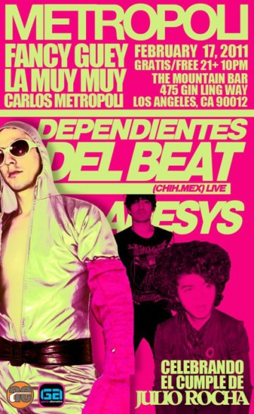 Dependientes Del Beat Anesys En The Mountain Bar China Town Los Angeles Ca - rock en espa�ol - rockeros.net