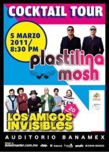 Cocktail Tour Plastilina Mosh Los Amigos Invisibles Auditorio Banamex Monterrey - rock en espa�ol - rockeros.net