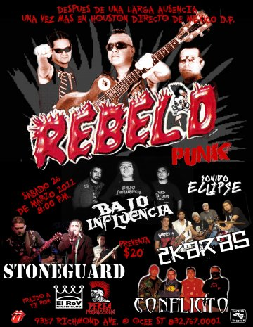 Rebeld Punk En Vivo Desde Mexico In El Rey Sports Bar Houston Texas - rock en espa�ol - rockeros.net