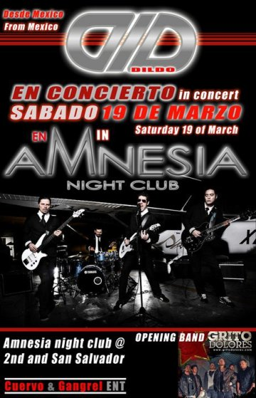 Dld Dildo Grito Dolores En Amnesia Night Club San Jose Ca - rock en espa�ol - rockeros.net