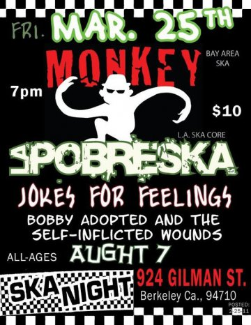 Monkey La Pobreska Jokes For Feelings En El 924 Gilman Project Barkeley Ca - rock en espa�ol - rockeros.net