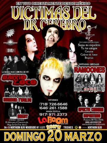Victimas Del Doctor Cerebro Barrio Loco Number Twelve En La Boom De New York Ny - rock en espa�ol - rockeros.net