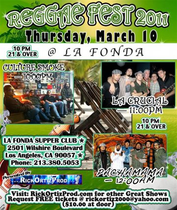 Reggae Fest 2011 At La Fonda Ultra Lounge Los Angeles Ca - rock en espa�ol - rockeros.net